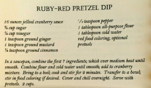 Ruby Red Pretzel Dip