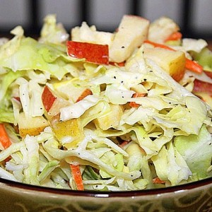 Cabbage Apple Coleslaw from www.VeganNook.com