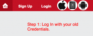 Step 1: Log in with your original credentials
